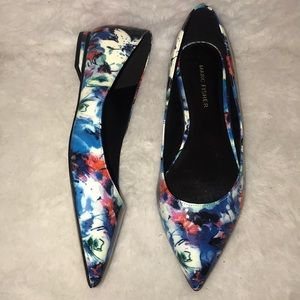 Floral Marc Fisher pointed toe flats
